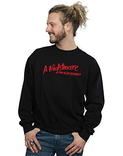 A Nightmare On Elm Street Herren Red Logo Sweatshirt Schwarz Large
