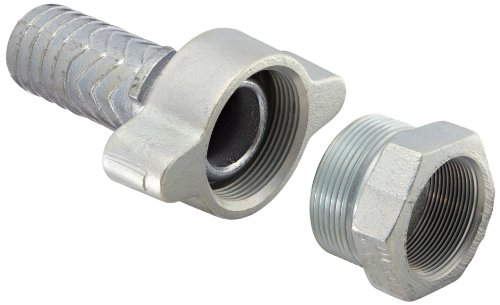 Boss Ground Joint (Dixon Boss GF81 Plated Iron Hose Fitting, GJ Boss Ground Joint Complete Seal, 2 NPT Female x 2-1/32 Hose ID Barbed by Dixon Valve & Coupling)
