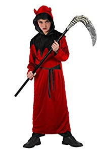 Atosa-14956 Disfraz Demonia 10-12, Color Rojo, 10 a 12 años