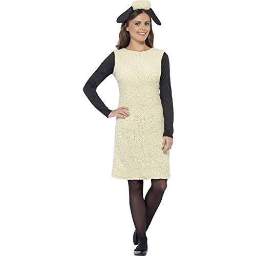 Das Kostüm Shaun Schaf - Smiffys Damen Kostüm Shaun das Schaf Karneval Fasching Gr.M