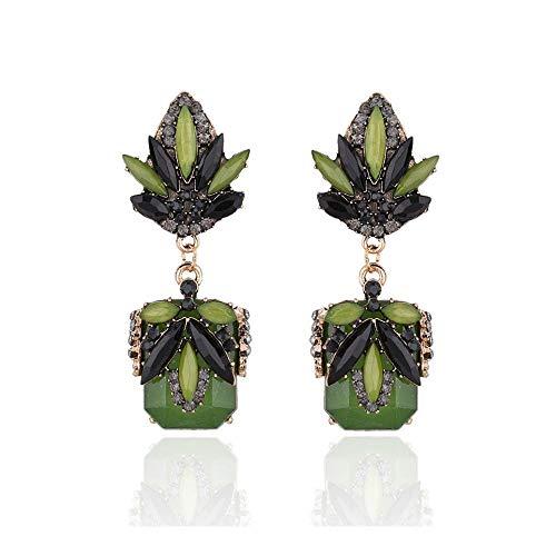 Da.Wa Damen Tropfen Ohrringe Vintage Diamantohrringe Anhänger für Kleid Kostüm Hochzeit Schmuck (Diamond Womens Kostüm)