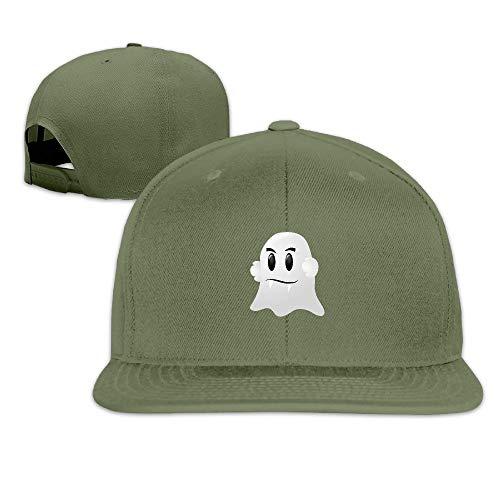 CHKWYN Halloween Ghost Vampire Teeth Solid Flat Baseball Caps Snapback Hat Unisex -