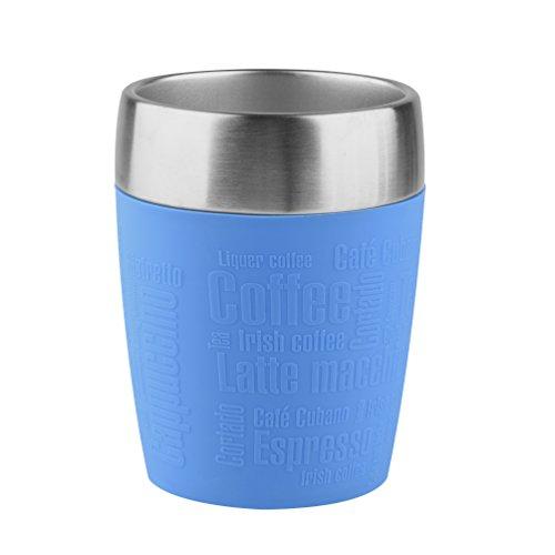 Emsa 514515 Isolier-Trinkbecher, Mobil genießen, 200 ml, Dreh- Trinkverschluss, Wasserblau, Travel Cup