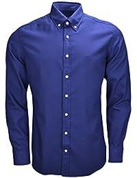 Hackett London Gmt Dyed Oxford SL, Camisa Para Hombre