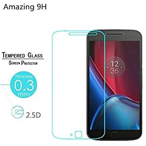 ARNAV (COMBO Offer) MOTOROLA MOTO G4 PLAY Premium 2.5D Curved Edge Perfect Cut 0.25mm Ultra-Thin HD Crystal Clear {Tempered Glass+Soft Black Ipaky}