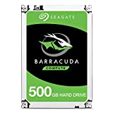 Seagate BarraCuda 500 GB 2.5 Inch Internal Hard Drive (7 mm Form Factor, 128 MB Cache SATA 6 GB/s Up to 140 MB/s)