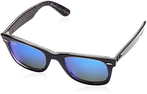 RAYBAN Unisex Sonnenbrille Original Wayfarer Gestell, Gläser: blau verspiegelt 120368), Medium (Herstellergröße: 50)