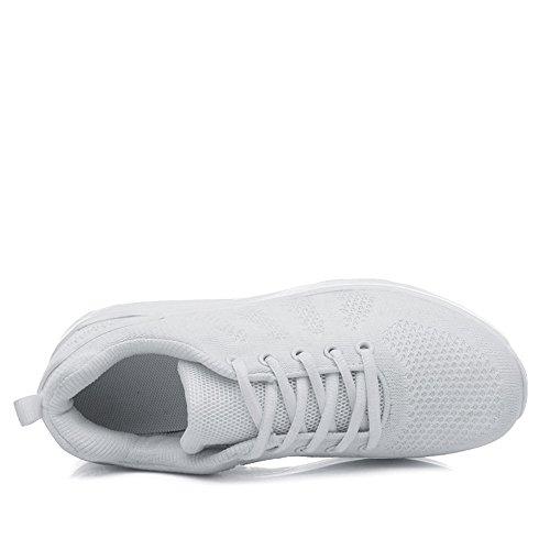 Damen Turnschuhe New für Sport Running white Schuhe Air Mädchen Trainer 8 Laufen Joggen Bq1qwd8