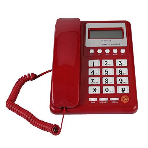 VBESTLIFE Kabelgebundenes schnurgebundenes Telefon mit Lautsprecher, Display und Anrufer-ID für Home Hotel Office (Telefone Anrufer-id Mit)