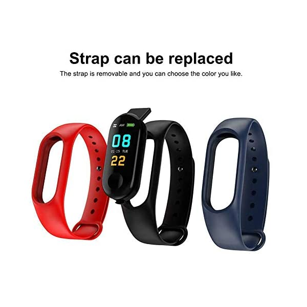 Smartwatch M3 Plus Heart Rate Fitness Tracker SmartBand OLED Smart Wrist Sports Pulsera Pantalla Colorida 3