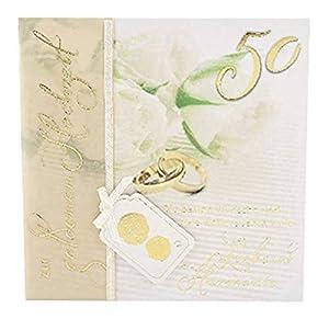Depesche 4907.048Tarjeta de felicitación Emotions en diseño Elegante, Bodas de Oro, Multicolor