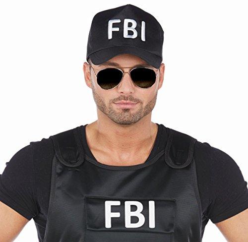 ecap Cap FBI Polizist Agent Karneval Fasching (Halloween-kostüm Fbi-agent)