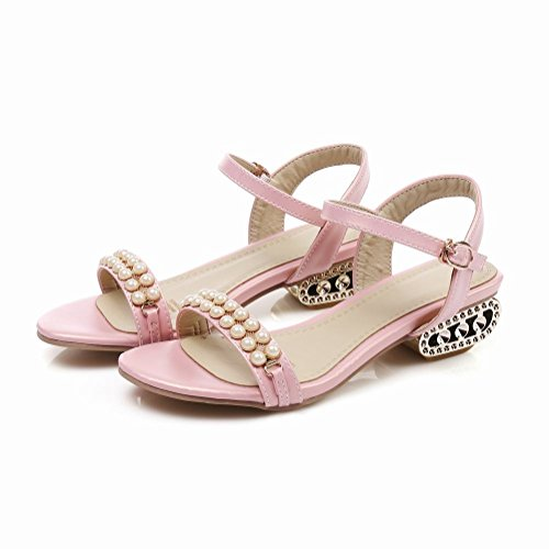 Mee Shoes Damen süß speziell heels open toe Sandalen Pink