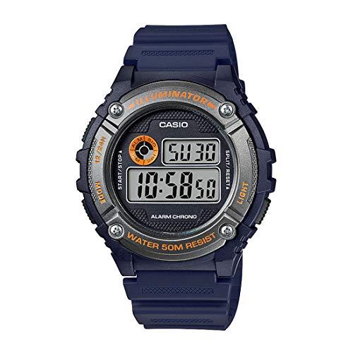 Casio Reloj con Movimiento Cuarzo japonés Unisex Unisex W-216H-2B 44 mm