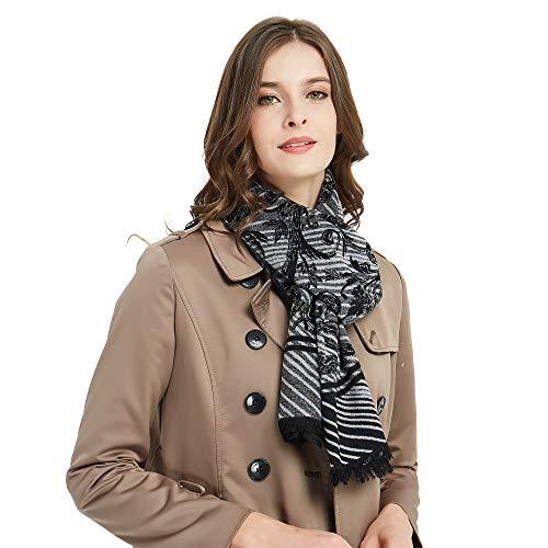 CUDDLE DREAMS Damen Seidenschal für den Winter, 100% Maulbeerseide, gebürstet, luxuriös weich und warm - mehrfarbig - Einheitsgröße -
