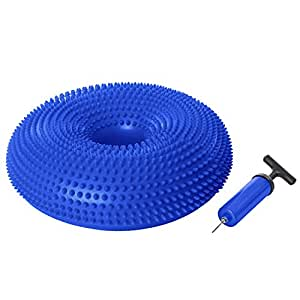 Ivation Inflatable Balance Disc Core Training Cushion/Seat