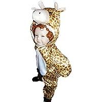 J24 Taglia 2-3A (92-98cm) Costume da Giraffa per bambini, indossabile comodamente sui vestiti normali