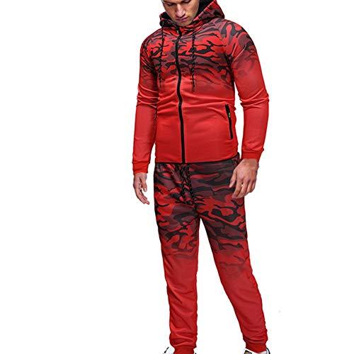 Z&Y Glaa Herren Jogging Anzug Trainingsanzug Sweatshirt Hose Sportanzug Herren Jogginganzug - Trainingsanzug aus Baumwolle - Basic Sportbekleidung Jogging Anzug Trainingsanzug Sportanzug Sweatshirt