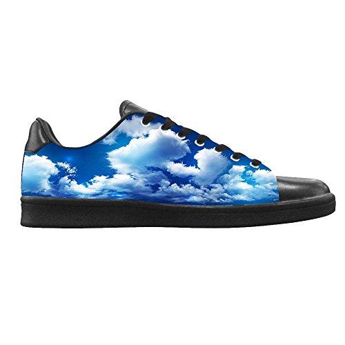 Dalliy Blaue Wolken Men's Canvas shoes Schuhe Lace-up High-top Sneakers Segeltuchschuhe Leinwand-Schuh-Turnschuhe D