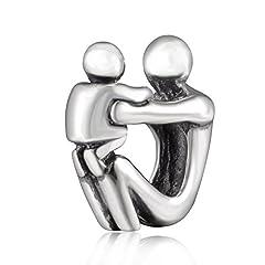 Idea Regalo - Soulbead Father Son antico in argento Sterling 925Paternità gioielli di perline per braccialetti stile europeo
