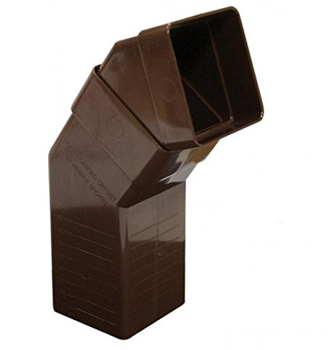 FLOPLAST 65mm Square Downpipe Adjustable Offset Bend - Brown by FloPlast - Offset-drain