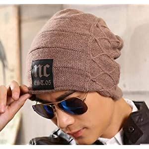 AlexVyan 1 Pcs Unisex Woolen Beanie Cap for Men Women Girl Boy Warm Snow Proof Black Premium High Quality Soft