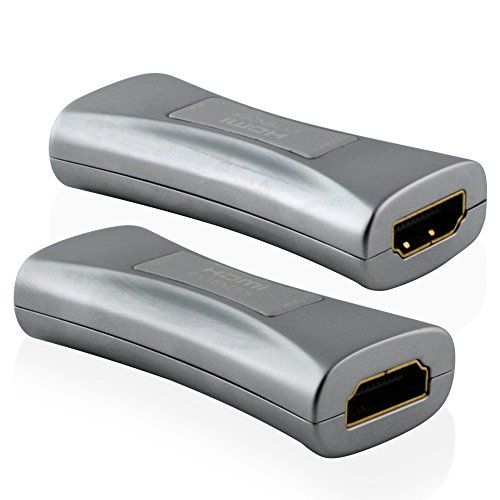 Cablesson EQ Maestro HDMI Repeater Extender Booster Adapter - Sended Signale bis 50m, unterstützt 4k, 8k, 2160p, 3D, Ultra HD, HDTV - Aktiv Equalizer - für Sky HD und andere Boxen, PS4, DVD und mehr- schwarz Hdmi-signal-equalizer