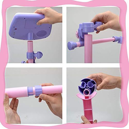 Kinder Karaoke Mikrofon Verstellbarer Standfuß mit externer Musikfunktion & Blinkleuchten von Wishtime - 5