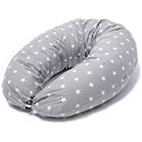 Cojin Lactancia Multifuncional & Almohada Embarazo Dormir |Funda 100% Algodon Lavable|Made in EU