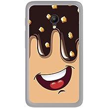 FUNDA de GEL TPU para ORANGE RISE 51 / ALCATEL PIXI 4 (5) 4G / VODAFONE SMART TURBO 7 diseño HELADO CHOCOLATE Dibujos