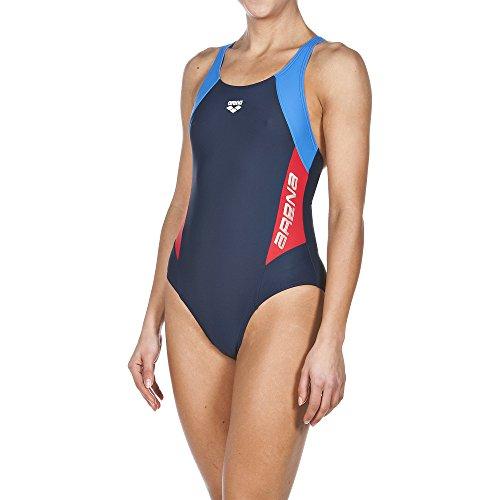 arena Damen Sport Badeanzug Drom, Navy/Red/Pix Blue, 40