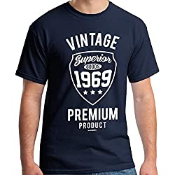 50th Birthday Gifts Cadeaux Anniversaire 50 Ans - Vintage Premium 1969 - T-Shirt Homme