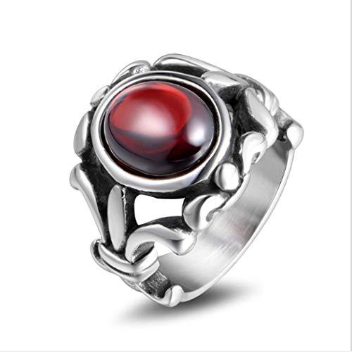 Yoyoyaya anello man titanio acciaio agata artificiale cava out scultura in acciaio inox donna amante gioielli squisita dono,nove