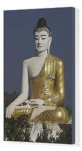 Toile de mille Bo Boddhi Tataung (arbres), Grande statue de bouddha assis