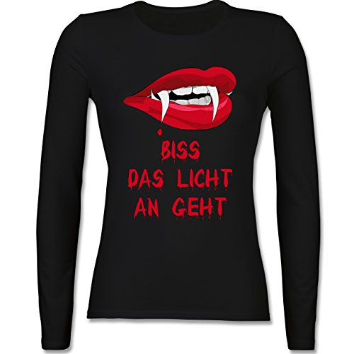 Shirtracer Halloween - Biss Das Licht An Geht Vampir - XL - Schwarz - BCTW013 - Damen - Licht Alternative Halloween-party