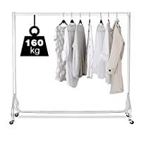 Displaysense Heavy Duty Clothes Rail, Garment Rail (Various Colours & Sizes Available)