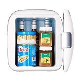DGKNJ Car Fridge Portable Mini-réfrigérateur Personnel Compact portatif, refroidit et Chauffe, Capacité de 4 litres, Réfrigère 6 canettes de 12 oz. pour Pique-Nique, Camping et Plein air