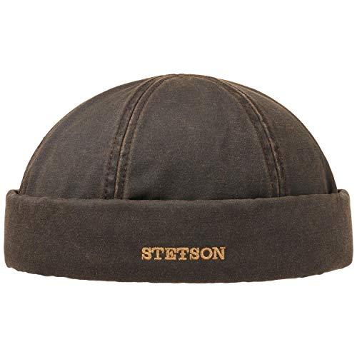 Stetson Bonnet Docker Old Cotton Winter Homme | pour l'hiver avec Revers, Bonnets Docker, Doublure, Ferme a l'Arriere, Doublure Automne-Hiver