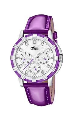 Lotus 15746/6 - Reloj analógico de cuarzo para mujer con correa de piel, color morado de Lotus