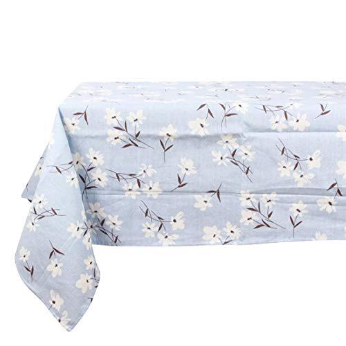 Hemotrade Rechteckige Tischdecke - 140 x 220 cm - Rechteckige Tischdecke aus Blauer und rosafarbener Baumwolle - ideal für Buffettisch, Partys, Weihnachtsessen, Hochzeit & mehr (Color : ()