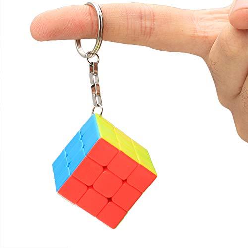 zhouye Rubik's Cube Keychain Mini Handy Trompete Anhänger Tasche Nachtlicht Würfel