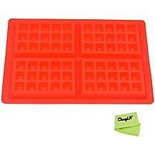 CkeyiN ® Rectángulo en Forma de Waffles Horneado Molde Cavidad 4 Pasteles para Hornear Herramientas de Bricolaje