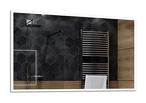 ALASTA® Espejo | Premium Espejo a Medida | 120x80 | Boston | Espejo Fabricado a Medida | 17 Accesorios...