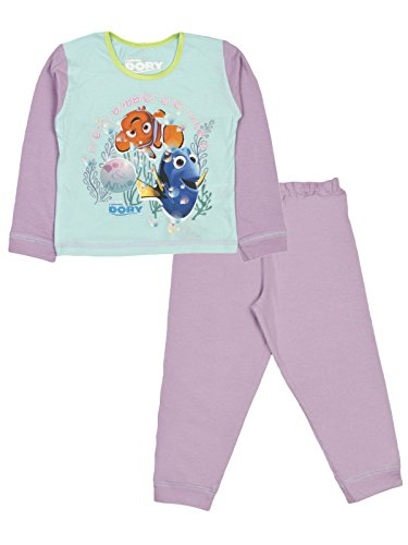 Finding Dory/Nemo Disney Girls Full Length Cotton Pyjama Set Size 18 Months To 5 Years