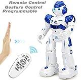 Roboter Spielzeug für Kinder, Fernbedienung und Handsignalsteuerung, Aufladen mit USB-Kabel, Ein Roboter der singen und tanzen kann, Beste Weihnachten und Geburtstagsgeschenke für Kinder (Blau)