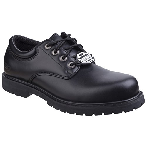 Skechers Herren Cottonwood Elks SR Schuhe (39.5 EU) (Schwarz) -