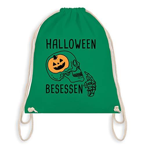 (Halloween - Halloween Besessen Totenkopf Kostüm - Unisize - Grün - WM110 - Turnbeutel & Gym Bag)
