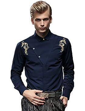 [Sponsorizzato]FANZHUAN Camicia Uomo Slim Fit Fantasia Elegante Vintage Flanella