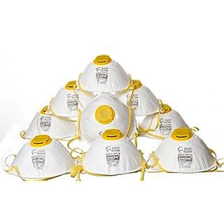 10x Atemschutz Staubschutzmaske Maske mit Ventil FFP1 inkl.Advanced23 Flaschenöffner