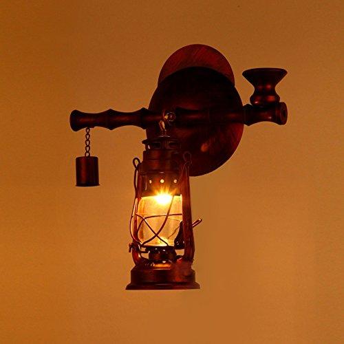 C&L Rétro Applique, Style Nostalgique Fer Lampe Mur Allée Créative Chambre Bar Restaurant Cafe Club Mur Lampe E27 (taille : 30 * 40cm)